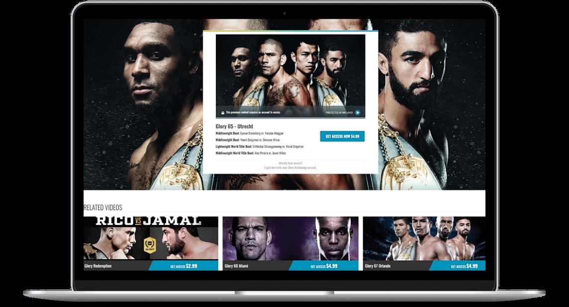 Wrestling VOD platform layout