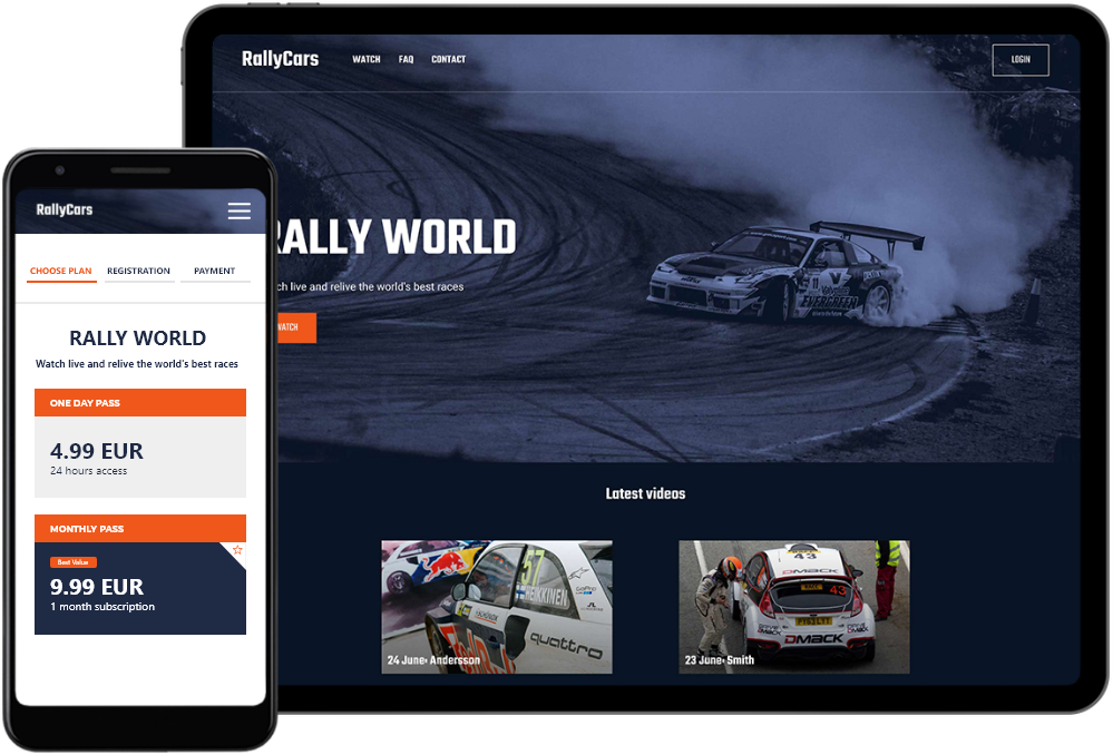 FIA world championship streaming platform on desktop and mobile